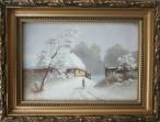 Archiwalne_____Klotz H. - Wiejska zagroda zimą