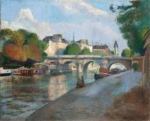 Most w Paryżu 1929r., 50x61cm