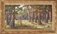 Panorama lasu 1904, 70x130cm