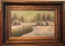 w kolekcjach __Korecki - Zima nad rzeką  35x55cm