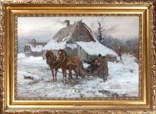 Postój przed chatą 60x90cm, Cz.Wasilewski