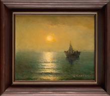 W kolekcjach___Bałtyk o  zachodzie słońca 30x30cm