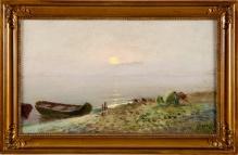 '____w kolekcjach_____Łódka na brzegu morza 30x49cm