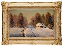 W kolekcjach___Wiktor Korecki, Droga przez las, 30x40cm