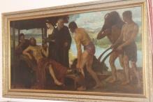 Scena antyczna z Bacchusem 75x154cm