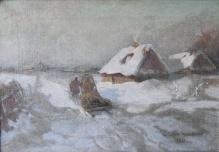 w kolekcjach__Korecki W. - Zima na wsi 25x37,5cm