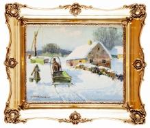 w kolekcjach____Wiktor Korecki - Zima na wsi