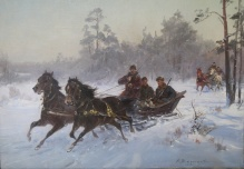 Archiwalne___Zygmuntowicz - powrót z polowania