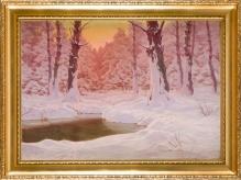 Grubiński Jan - Pejzaż zimowy 70x100cm