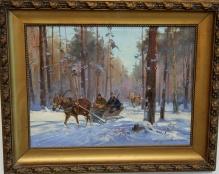 Zygmuntowicz - Przejazd myśliwych przez las