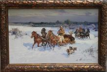 Wasilewski - Powrót z polowania z łosiem