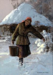 Wiktor Korecki - Dziewczyna z wiadrem 40x30