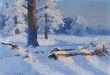 Korecki Wiktor - Pejzaż zimowy 35x50cm