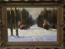 Wiktor Korecki (1897-1980) Droga przez las zimą