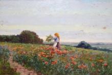 Wiktor Korecki (1897-1980) Dziewczynka wśród maków