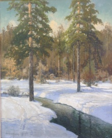 Korecki Wiktor (1897-1980)  Struga zimą