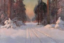 Korecki Wiktor (1897-1980) Droga przez las zimà