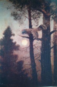 Korecki Wiktor (1897-1980)- Głuszec na drzewie 1932r.