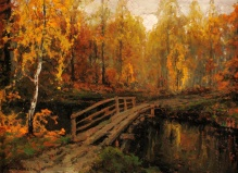 Wiktor Korecki (1897-1980) Mostek jesienią