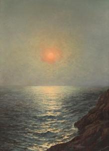 Archiwalne___Korecki - Zachód słońca nad morzem 1946  113x83cm