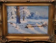 Korecki Wiktor - Pejzaż zimowy 35x50cm (przedwojenny)
