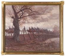 Rozwadowski - Przejście Wojsk Polskich przez most na rzece Styr