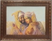 Szewczenko Konstanty (1910-1991) - 40x50cm, olej, tektura, Arabska para