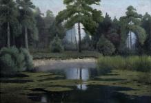 Wiktor Korecki - Pejzaż nadwodny 1929  70x100cm