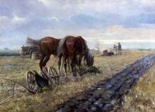 Wintorowski Leonard -  Odpoczynek koni 63x88cm