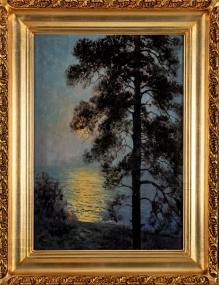_w kolekcjach__Korecki Wiktor (1897-1980), Sosna nad brzegiem morza, 50x35 cm,