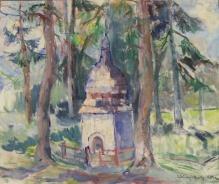 Archiwalne____Dziurzyńska-Rosińska Zofia (1901-1979) Pejzaż z kapliczką