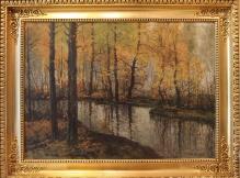 Korecki Wiktor (1897-1980)  Zakole rzeki jesienią  / jesień