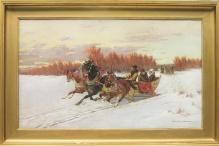 Makowski Aleksander (1869-1924)  Trojką na polowanie