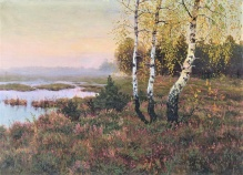 Korecki Wiktor (1897-1980) Brzozy na wrzosowisku