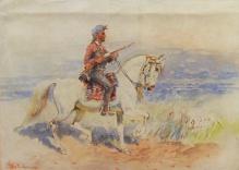 Archiwalne___Stachowski Władysław (1852-1932) - Jeździec wschodni