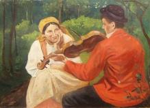 Wodzinowski Wincenty (1860-1940), 50x70 Zasłuchana