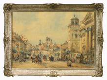 __w kolekcjach__Chmieliński Władysław (1911-1979) - Widok na plac zamkowy
