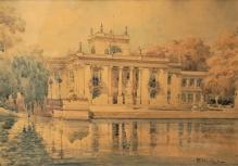 ___ARCHIWALNE___Chmieliński Władysław (1911-1979) Pałac na Wodzie w Łazienkach Królewskich
