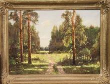 Korecki Wiktor (1897-1980)  Sosny przy drodze w słoneczny dzień