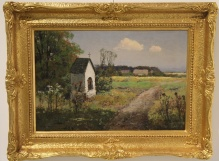 Korecki Wiktor (1897-1980) Pejzaz letni z kapliczka