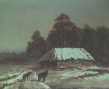 Korecki Wiktor (1897-1980) Wilk na skraju wsi