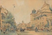 __SPRZEDANE___Chmieliński Władysław (1911-1979) Widok na Plac Zamkowy