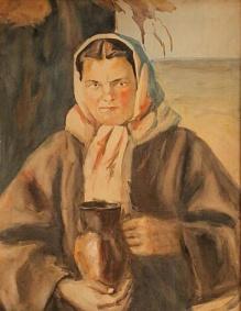 Czepita Michał (1884-1941) Dziewczyna z dzbankiem