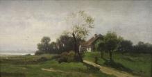 Brochocki Walery - Pejzaż z karczmą 1875r.