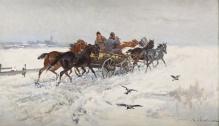 w kolekcji_____Wasilewski Czesław (ok.1875-1946/7)  W drodze na targ