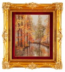 Korecki Wiktor - Jesienią nad rzeką  72x60cm
