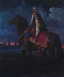 Stępień Jan (1895-1976) Portret konny husarza