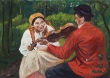 Wodzinowski Wincenty (1860-1940)  Zasłuchana