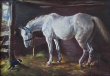Stępień Jan (1895-1976)  W stajni