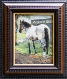 Stępień Jan (1895-1976) Portret konia przy płocie